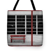 Alone - Red Bench - Windows Tote Bag
