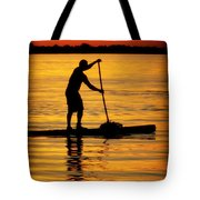 Alone With The Sun Tote Bag by Karen Wiles