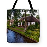 Along The Canal. Giethoorn. Netherland Tote Bag