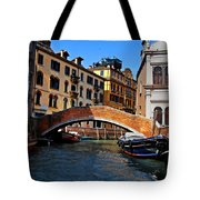 Along The Canals Of Venice Tote Bag