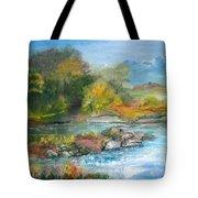 Along The Riverbank Tote Bag