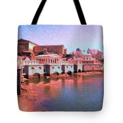 Along The Schuylkill At The Philadelphia Waterworks Tote Bag