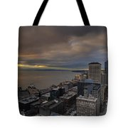 Along The Seattle Waterfront Tote Bag