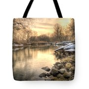 Along The Thames River  Tote Bag