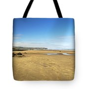 Along Whitby Sands Tote Bag