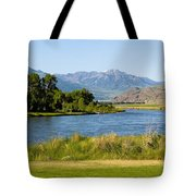 Along Yellowstone  Tote Bag
