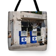 Alonissos Petrol Station Tote Bag