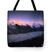 Alpenglow Lights The Summit Of Mt Tote Bag