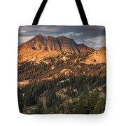 Alpenglow On Brokeoff Mountain Tote Bag
