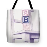 Alphabet Blocks Chair Tote Bag