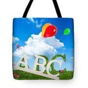Alphabet Letters Tote Bag by Amanda Elwell