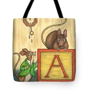 Alphabet Mice Tote Bag