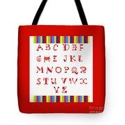 Alphabet Red Tote Bag