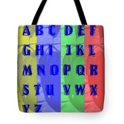 Alphabet With Apples Tote Bag