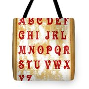 Alphabet With Scroll 2 Tote Bag