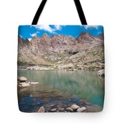 Alpine Lake Beneath Sunlight Peak Tote Bag