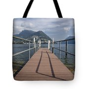 Alpine Lake With A Pier Tote Bag