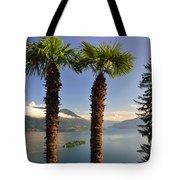 Alpine Lake With Island Tote Bag