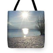 Alpine Lake With Snow Tote Bag