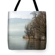 Alpine Lake With Trees Tote Bag