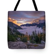 Alpine Lakes Morning Cloudscape Tote Bag