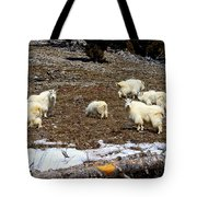 Alpine Mountain Goats Tote Bag