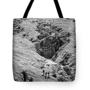 Alpinists On Glacier Tote Bag