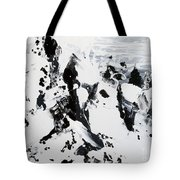 Alps In Black And White Tote Bag