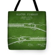 Alston Firearm Patent Drawing From 1887- Green Tote Bag
