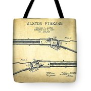 Alston Firearm Patent Drawing From 1887- Vintage Tote Bag