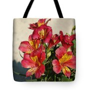 Alstroemeria In Pastel Tote Bag
