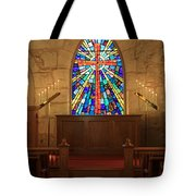 Altar At The Little Church In La Villita Tote Bag