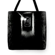 Altered Image Of The Catacomb Tunnels Paris France  Tote Bag