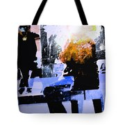 Alternate Reality - Photographer On Fire Tote Bag