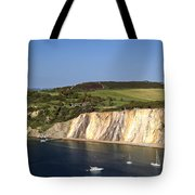 Alum Bay And The Coloured Sand Cliffs Tote Bag
