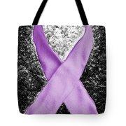 Alzheimer's Awareness Ribbon Tote Bag