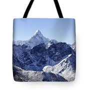 Ama Dablam Mountain Seen From The Summit Of Kala Pathar In The Everest Region Of Nepal Tote Bag