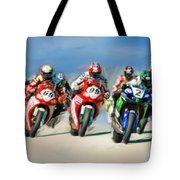 Ama Superbike Grid Tote Bag