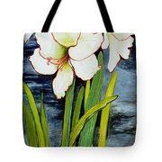 Amaryllis Against A Night Sky Tote Bag