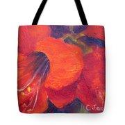 Amaryllis Flower Tote Bag