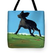 Amazing Black Dog, 2000 Tote Bag by Marjorie Weiss