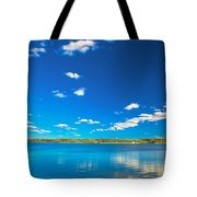 Amazing Clear Lake Under Blue Sunny Sky Tote Bag