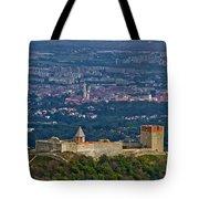 Amazing Medvedgrad Castle And Croatian Capital Zagreb Tote Bag
