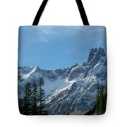Amazing Peaks Tote Bag by Christine Burdine