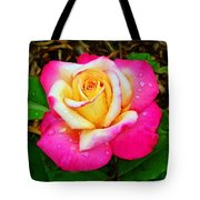 Amazing Red Yellow Rose Tote Bag