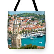 Amazing Town Of Hvar Harbor Tote Bag