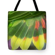 Amazon Parrots Feathers Abstract Tote Bag