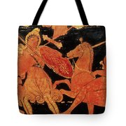 Amazon Warrior Woman Fights Greek Tote Bag