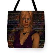 Amber Digital Portait Tote Bag