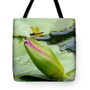 Amber Dragonfly Tote Bag